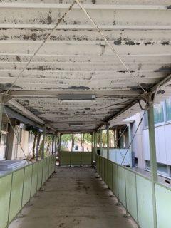 さいたま市上大久保中学校 渡り廊下天井塗装工事
